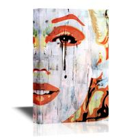 wall26 - Canvas Wall Art - Marilyn Monroe Portrait in Oil Painting Style - Gallery Wrap Modern Home Decor | Ready to Hang - 32x48 inches