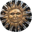 Spoontiques 13224 Sunface Stepping Stone, Bronze