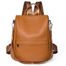 Soft Leather Backpack Women Shoulder Bag Travel Casual Purse Anti Theft Waterproof