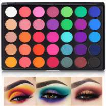 35 Bright Colors Eyeshadow Palette, 2020 Matte Sweatproof and Shimmer Eyeshadow Make up Palettes Christmas Palette Blendable Pressed Powder Eye Shadow
