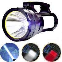 Odear Handheld Spotlight Super Bright 6000 Lumens Portable Rechargeable LED Searchlight Lantern Flashlight Waterproof Spot lamp for Hunting Hiking Camping