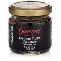 Gourmet Living Summer Truffle Mushroom Carpaccio   Slices of Italian Truffles in Sunflower Oil 2.65oz
