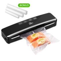 Uten Vacuum Sealer Machine, Automatic Food Sealer for Preservation with Air Suction Hose, Compact Design, Dry Moist Food Modes, Safety Certified, Led Indicator Lights - Black