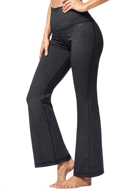 Matymats Bootcut Yoga Pants - Women High Waist Wide Leg Bootleg Pants Workout Dress Pants with Pockets