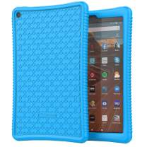 """MoKo Kids Case Fits All-New Fire HD 10 Tablet (9th Generation 2019 Release / 7th Generation 2017 Release), Drop-Resistant Flexible Rugged Silicone Back Cover Shell for Fire HD 10.1"""" - Blue"""