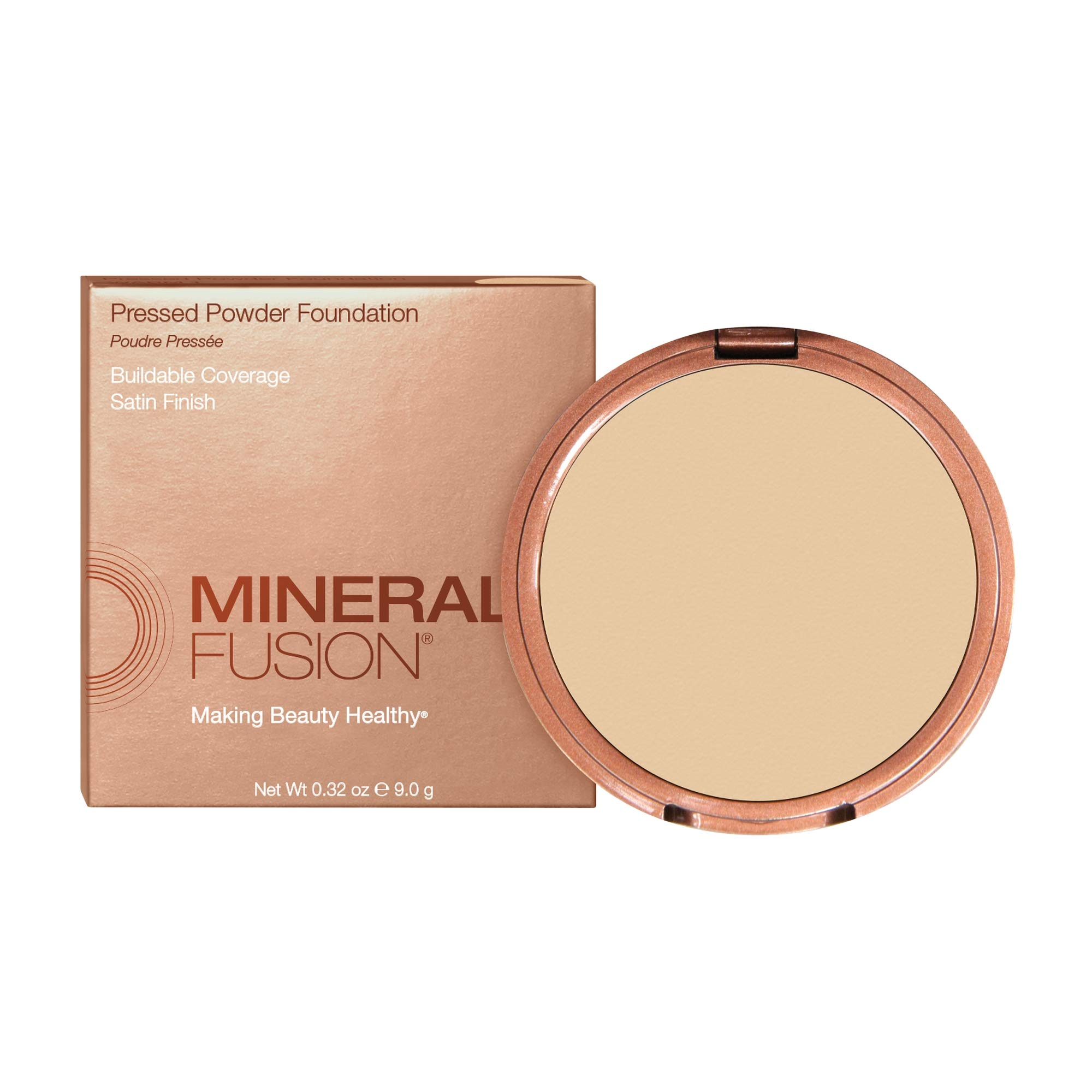 Mineral Fusion Pressed Powder Foundation, Olive 1