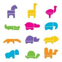 Munchkin Safari Animals Bath Toy, 33 Piece Non-Toxic Foam Set