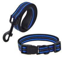Mile High Life | Reflective Dog Collar Leash Set | Small Dog Collar Leash Set | Medium Dog Collar Leash Set | Adjustable Collar Leash Set (11 Colors)