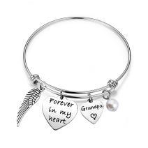 bobauna Memorial Bracelet Forever in My Heart Bracelet Sympathy Gift for in Memory of Loved One
