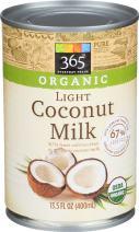 365 Everyday Value, Organic Light Coconut Milk, 13.5 fl oz
