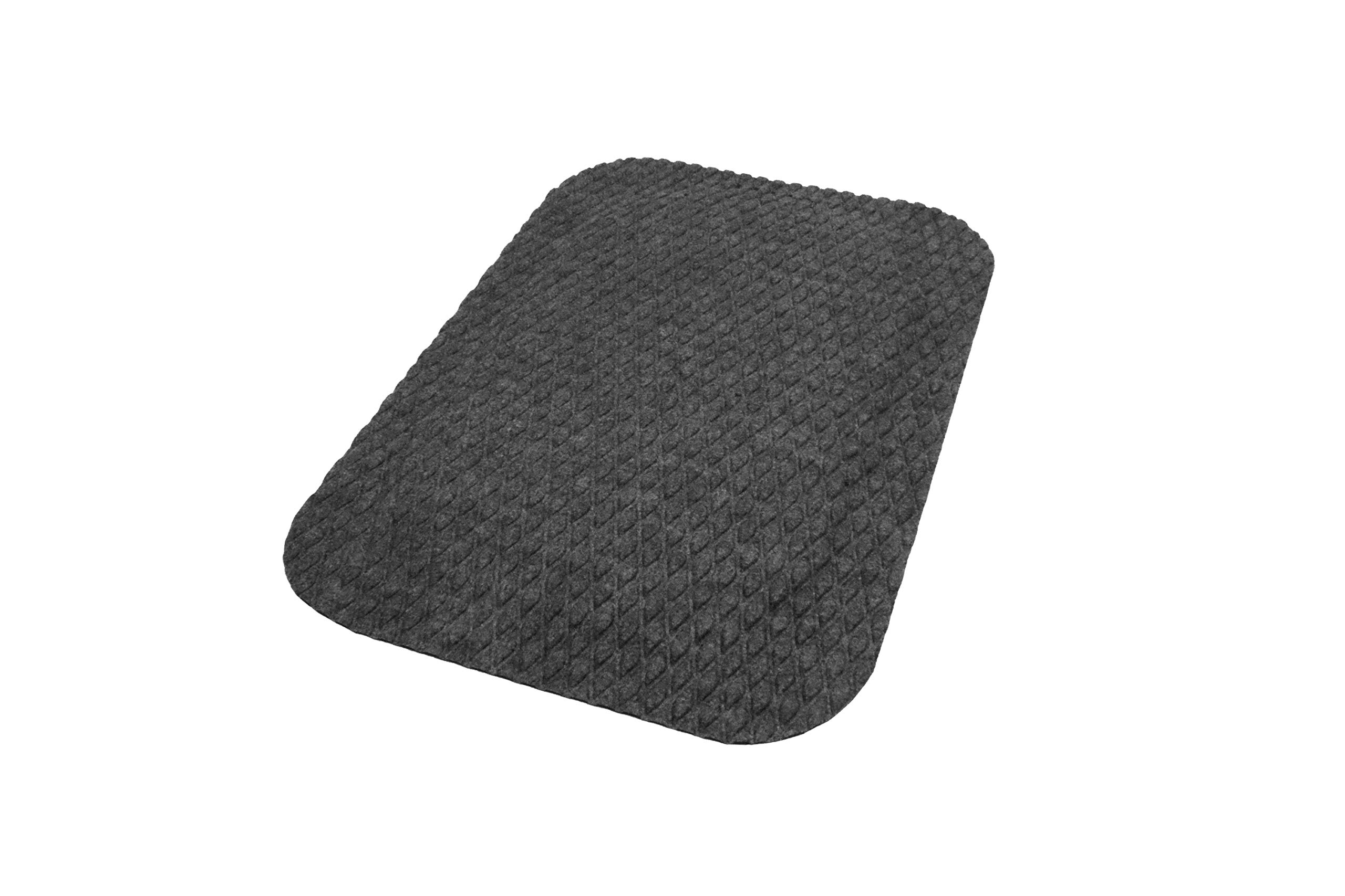 Hog Heaven Fashion Anti-Fatigue Mat – Stain-Resistant, Eco-Friendly, Attractive Fabric Surface Over Durable Memory Foam (Coal Black, 2' x 3', 7/8-inch Thick)