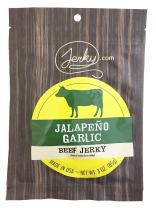 Jerky.com's Jalapeno Garlic Beef Jerky - All-Natural, No Added Preservatives, No Added Nitrites or Nitrates - 3 oz.