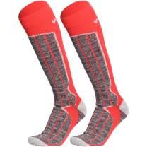 WEIERYA Men Women Ski Socks Thick Warm Cotton Skiing Socks for Winter Sports Outdoor Cold Weather, 2 Pairs