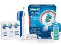 Oral-B Pro SmartSeries Power Rechargeable Electric Toothbrush with Bluetooth Connectivity , Detoxify Deep Clean Toothpaste and Pro-Health Comfort Plus Dental Floss, Mint