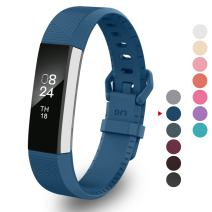 Greeninsync Compatible with Fit Bit Alta Accessories Bands Large, Newest Replacement for Fit Bit Alta HR Band Replacement Wristband Strap W/Secure Metal Buckle&Fastener for Fit Bit Alta HR/Ace(Navy)
