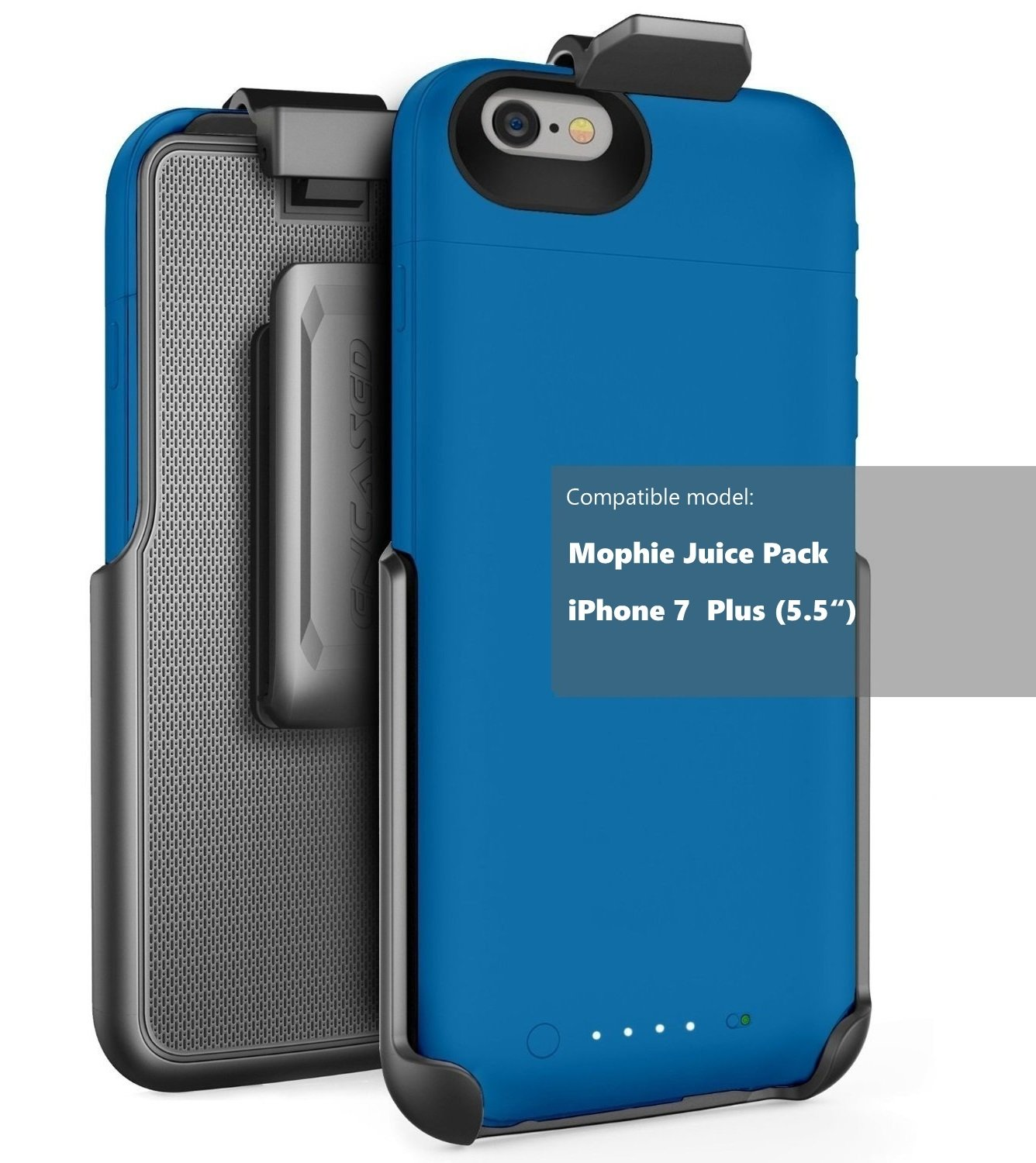 """Encased Belt Clip Holster fits Mophie air and Mophie Plus Juice Pack Battery Case - iPhone 8 Plus/iPhone 7 Plus (5.5"""") (case Sold Separately)"""