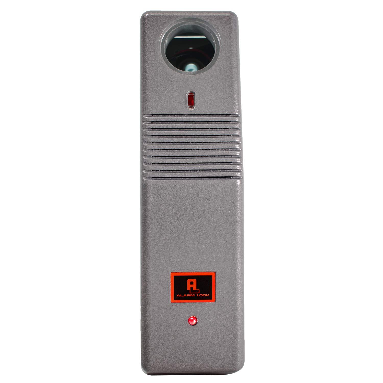 Alarm Lock PG21MS Pilfergard 95 Decibel Dual Piezo Siren Surface Mount Door Alarm, 9V Battery, Metallic Silver Finish