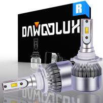 DAWOOLUX 9005/HB3 LED Headlight Bulbs Conversion Flip Chips/Internal Driver-Dual All-in-one Extremely Bright 6000K Cool White 7600 Lumens 72W, 2-Years Warranty