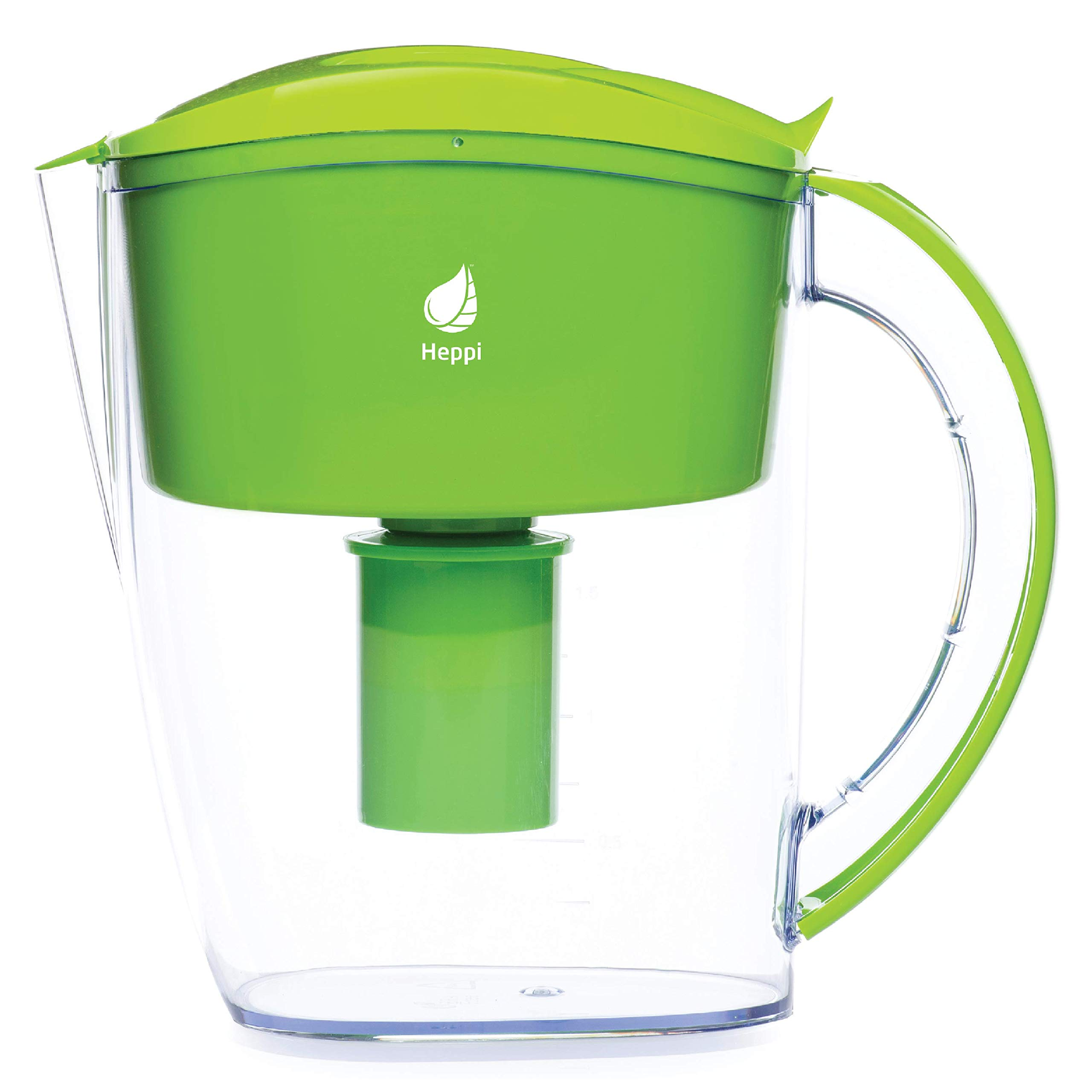 Heppi 3L Alkaline High pH Water Pitcher with 1 Filter (Green)