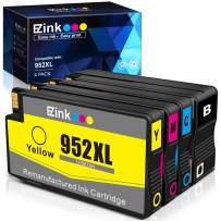 E-Z Ink (TM) Remanufactured Ink Cartridge Replacement for HP 952 XL 952XL to use with OfficeJet Pro 8710 8720 7740 8740 7720 8700 8715-New Upgraded Chips (1 Black, 1 Cyan, 1 Magenta, 1 Yellow, 4 Pack)