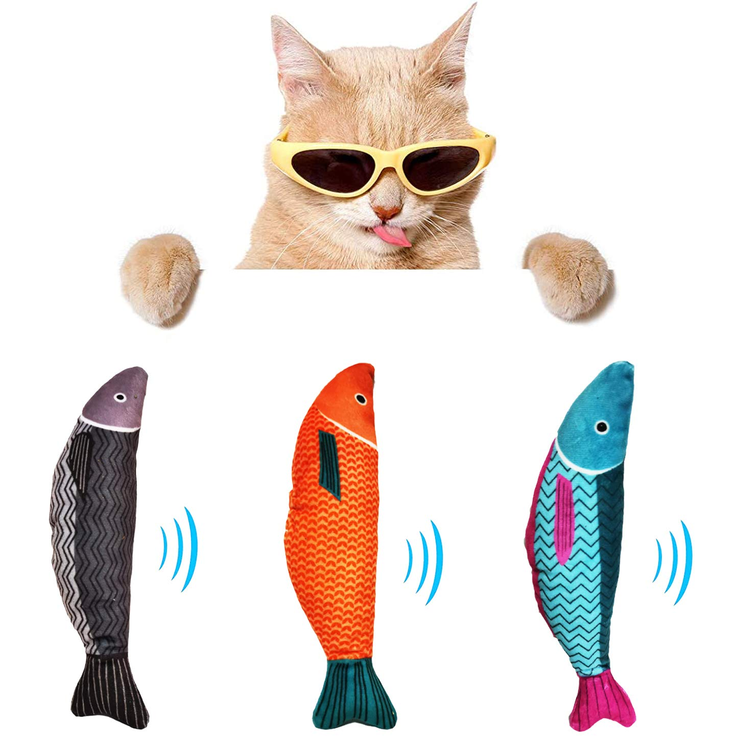 ZFIYP Catnip Toys for Indoor Cats, Interactive Cat Toys for Indoor Cats, Plush Cat Chew Toy Teeth Cleaning