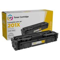 LD Compatible Replacement for HP CF402X / 201X High Yield Yellow Laser Toner Cartridge for HP Color Laserjet M252dw, MFP M277dw, and Pro M277n