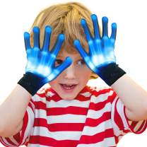 Kids Children LED Finger Light Gloves Hot Cool Top Toys for 3-12 Year Old Boys Fingertips Flashing Cool Popular Party Favor Christmas Birthday Gifts for 4-12 Year Old Boys