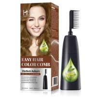 HJL Hair Color Ammonia-Free with Comb Applicator Easy Use Hair Dye Cream Hair Coloring Kit, Medium Auburn, Pack of 1