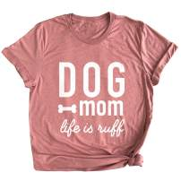 Spunky Pineapple Dog Mom Life is Ruff Funny Dog Mother Life is Hard Premium T-Shirt