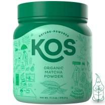 KOS Organic Matcha Powder - No Additives, 100% Pure Culinary Grade Matcha Green Tea Powder - USDA Organic, High In Antioxidants, Clean Energy Promoting Plant Based Ingredient, 316.8g, 120 Servings