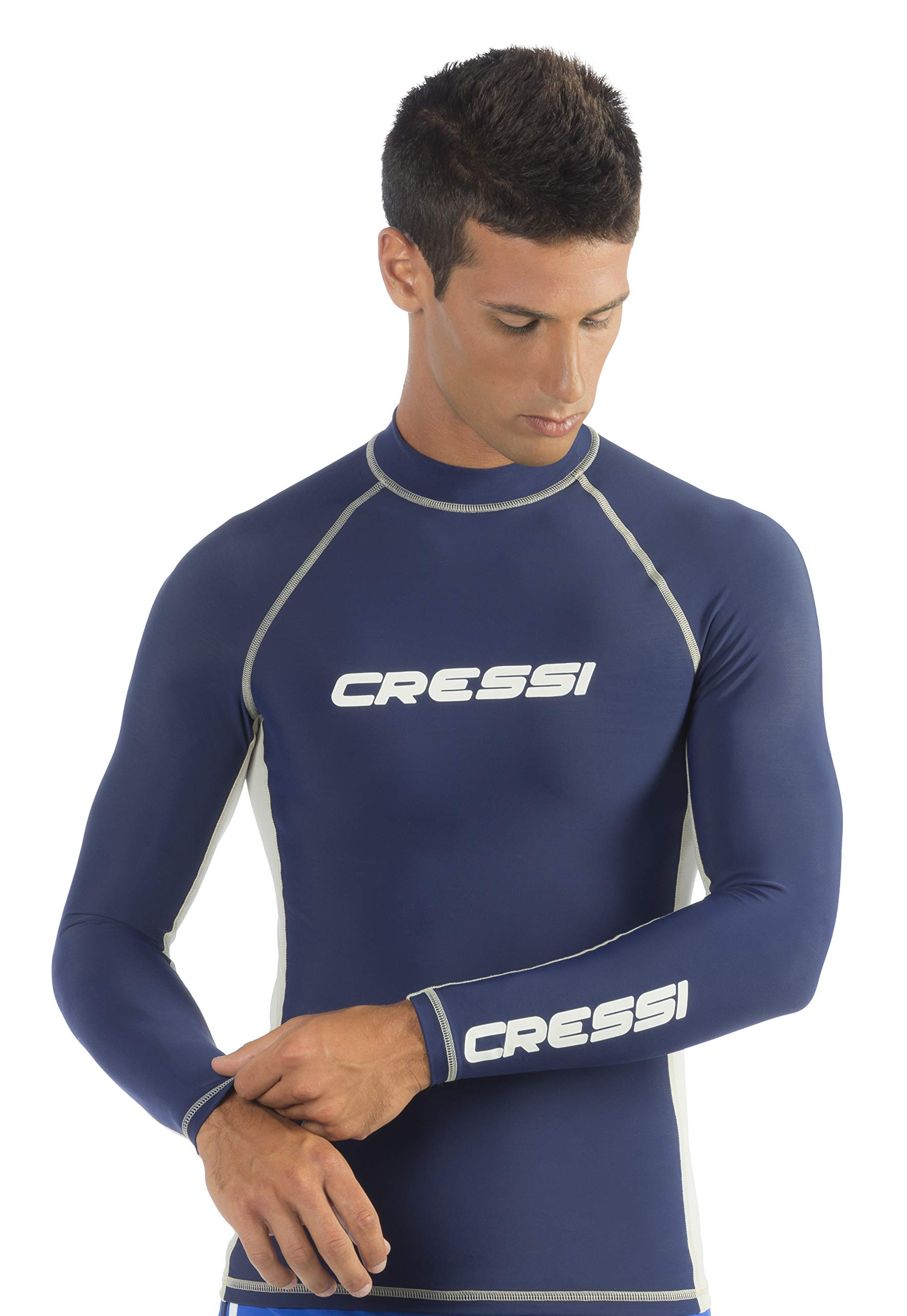 Cressi Men's Performance Dry-Fit Rash Guard for Swimming, Surfing, Diving and Water Activities - Keeps Body Warm - UV Sun Protection | Designed in Italy