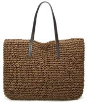 Straw Bag, Summer Beach Straw Bag For Women, Straw Purse, Round Large Woven Tote Handbags