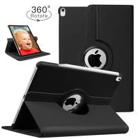 HBorna Case for New iPad Pro 12.9 Inch 2018 (3rd Gen), 360 Degree Rotating Stand Smart Cover Protection with Auto Sleep/Wake Function for The All Screen iPad Pro 12.9'' (2018 Release), Black