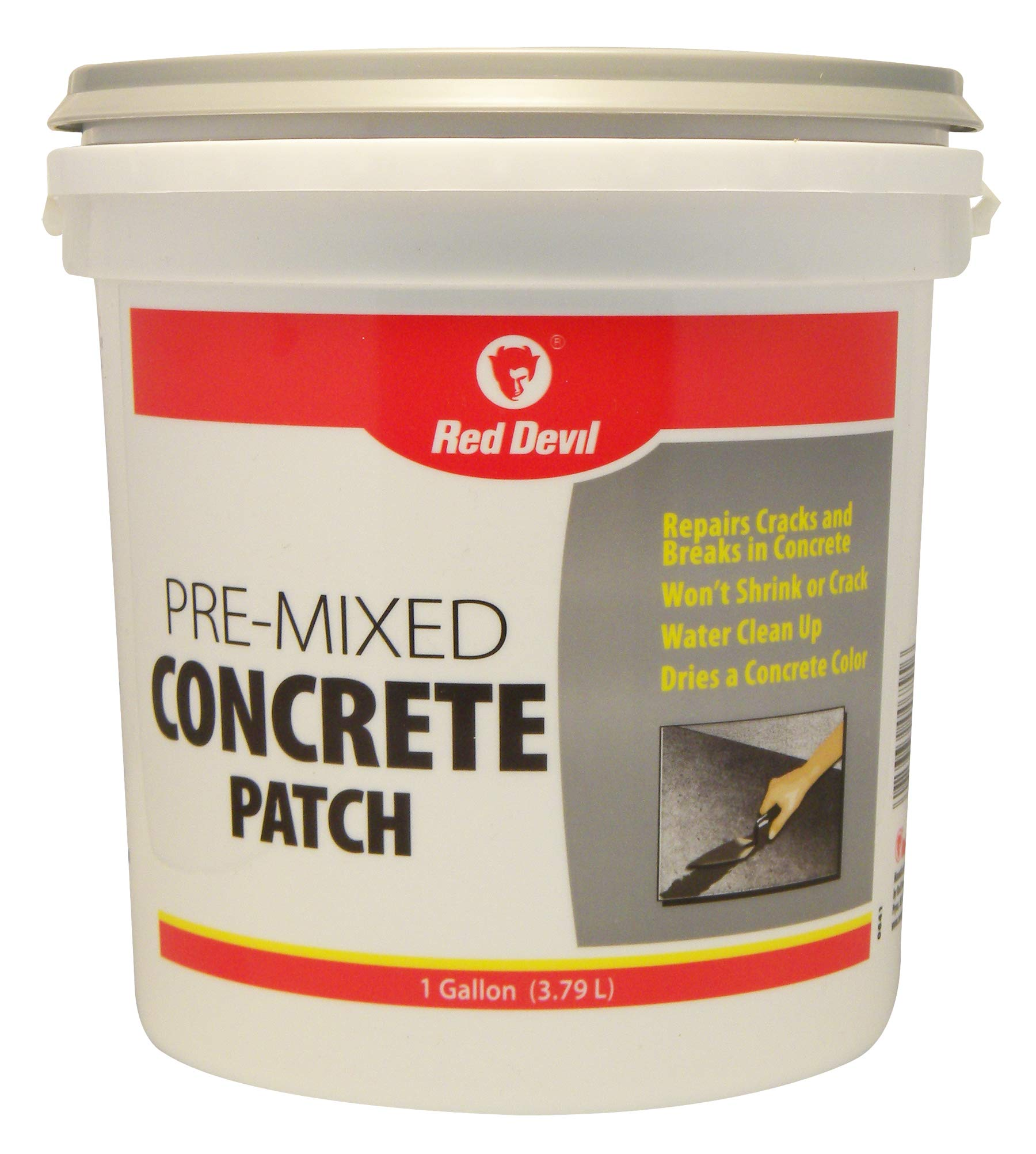 Red Devil 0641 Pre-Mixed Concrete Patch, 1 Gallon, Pack of 2, Gray