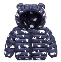 Happy Cherry Boys Girls Winter Coats Hooded Lightweight Puffer Jacket
