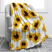 "Jekeno Sunflower Throw Blanket Smooth Soft Blanket for Kid Baby Sofa Chair Bed Office Travelling Camping Women Gift 50""x60"""