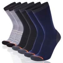COOVAN Men's 6 Pack Performance Cushion Crew Socks Men Athletic Comfort Work Sock