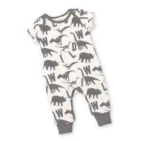Tesa Babe Baby Boy Animals Shapes Airplanes Outdoor Short Sleeve Playsuits & Rompers