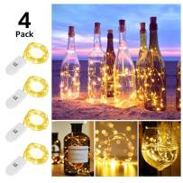 LE Fairy Light Battery Operated, Warm White, 3.3ft 20 Micro Starry LED, Waterproof Decorative Cooper Wire String Light for Indoor Outdoor Wedding, Party, Bedroom, Mason Jar, Craft and More, Pack of 4