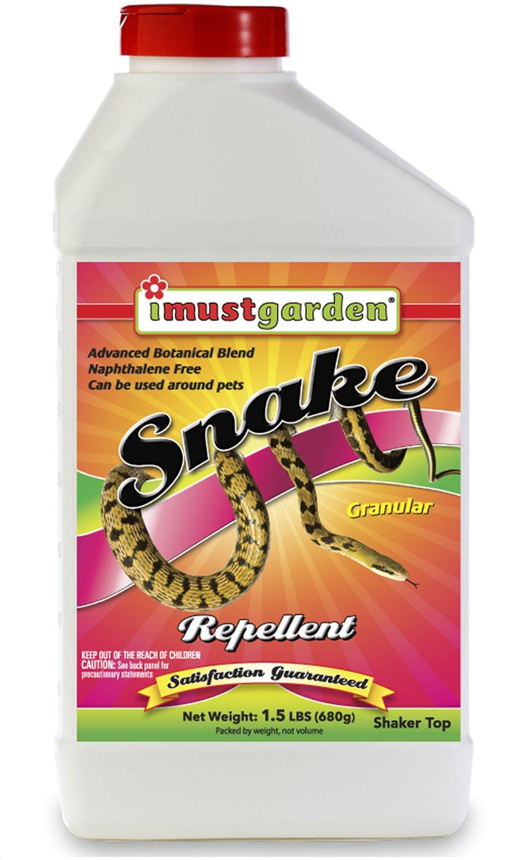 I Must Garden Snake Repellent: Powerful All-Natural Protection – 1.5 lb. Granular w/Flip Cap