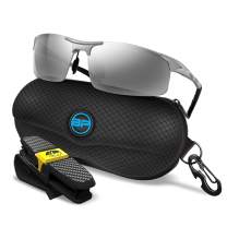 BLUPOND Sports Sunglasses for Men/Women - Anti Fog Polarized Outdoors Shooting Safety Glasses for Ultimate Eye Protection Mirrored Lens