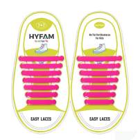 HYFAM No Tie Shoelaces for Kids/Adults, Waterproof Elastic Silicone Tieless Shoe Laces for Sneakers Board Shoes Casual Shoes