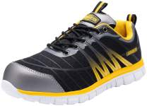 LARNMERN Steel Toe Shoes for Men,Lightweight Breathable Comfortable Work Shoes
