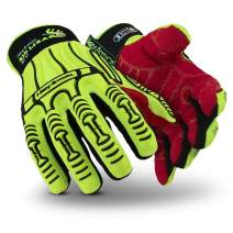 HexArmor Rig Lizard 2025 High Vis Impact Work Gloves with Firm Grip, XX-Large