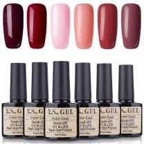 YaoShun Gel Polish - Soak Off Nail Gel UV LED Gel Polish 10ML Gel Polish French Manicure Gel Salon Art Kit #001