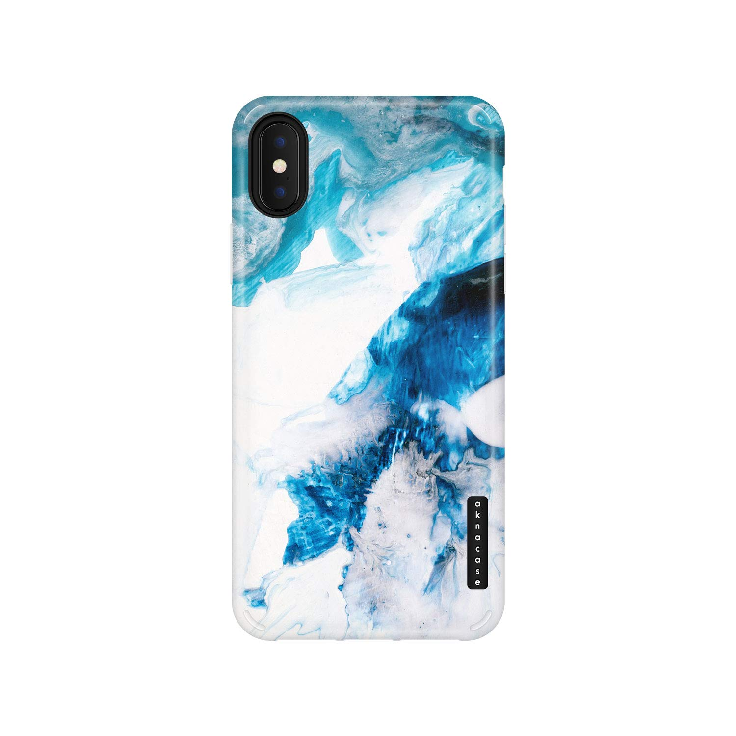 iPhone X & iPhone Xs Case Watercolor, Akna Sili-Tastic Series High Impact Silicon Cover with Full HD+ Graphics for iPhone X & iPhone Xs (101707-U.S)