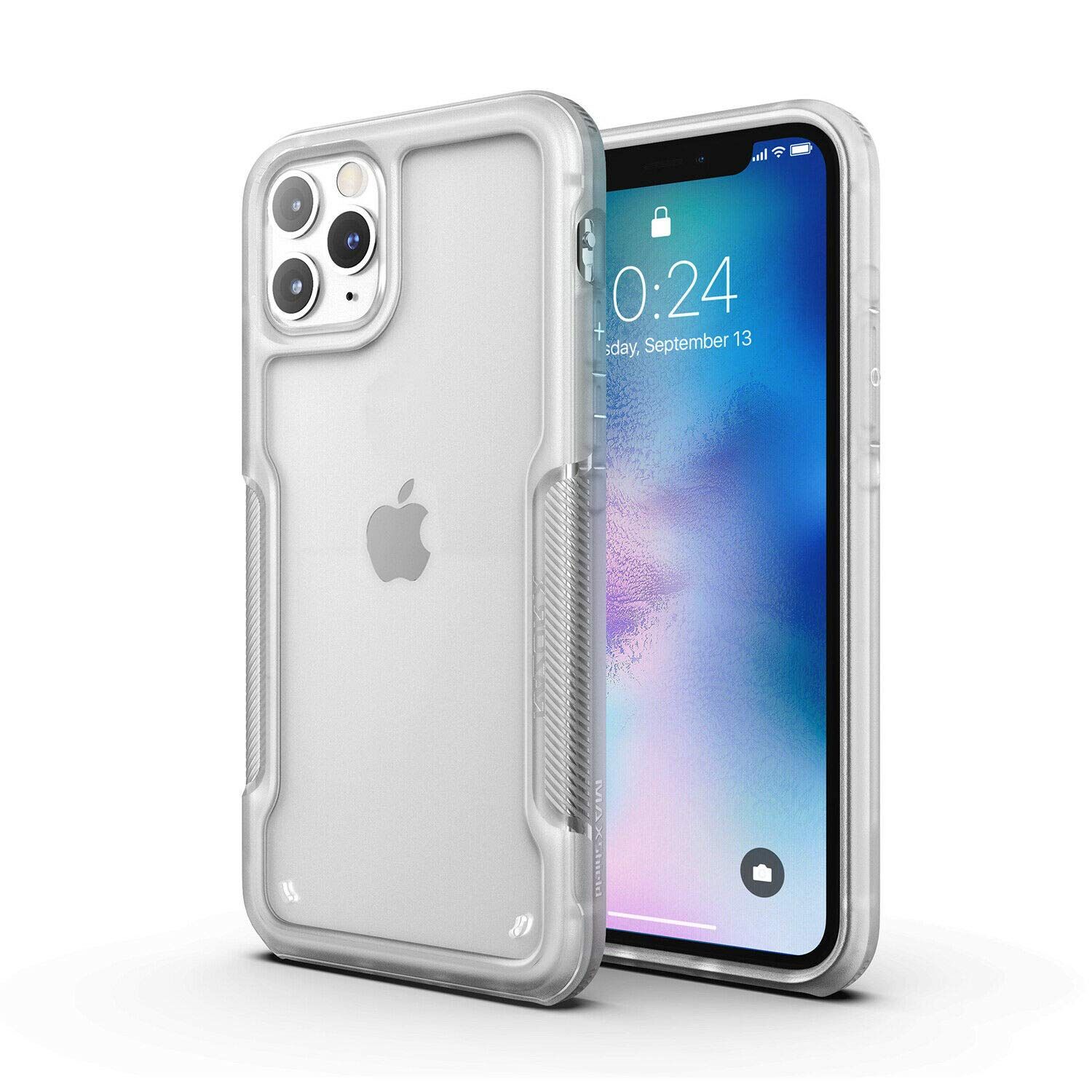 MAXSHIELD Compatible with iPhone 11 Case, Premium Hybrid Shockproof Protective Slim Clear Case [Razor X Series]-Frost Clear