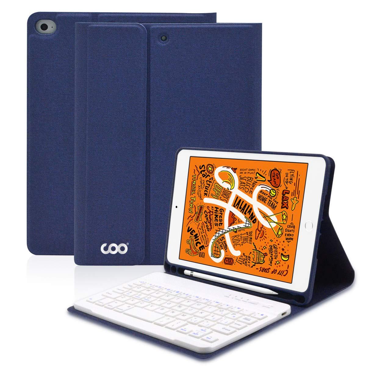 iPad Keyboard Case Mini 5/4 for 5th Generation 2019 Release - Wireless Bluetooth Detachable Keyboard - Auto Sleep/Wake Lightweight Stand Case (Dark Blue)