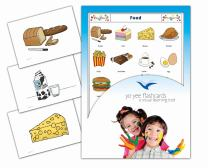 Yo-Yee Flashcards - Food and Drinks Flash Cards - English Vocabulary Picture Cards for Toddlers 2-4 Years, Kids, Children and Adults