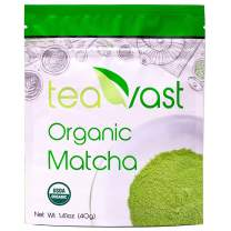 Matcha Green Tea Powder Organic Baking, Vegan, Unsweetened, Latte, Smoothie, Iced Tea, Ice Cream, Cold Brew and Dessert, Recipes 40g/1.41oz